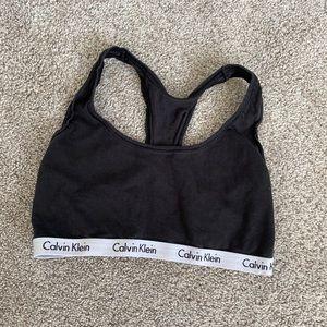 Black Calvin Klein sports bra